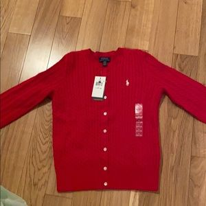 Girls size LG - 12/14 Ralph Lauren Cardigan